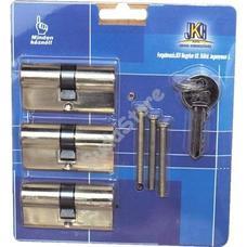 JKH SB zárbetét 30/30mm 3db azonos zárlatú 6 kulcs réz 3986468