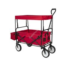 Összecsukható kocsi tetővel piros HOP1001001-2