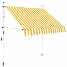 Feltekerhető napellenző sárga csíkos 250x120cm HOP1001018-2