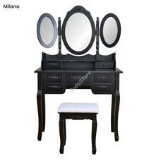 Tükrös fésülködő asztal Milano fekete HOP1000992-2