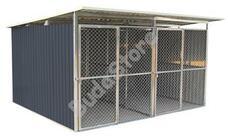 G21 KEN 886 kutyaketrec 322 x 275 cm két férőhelyes szürke G21KEN886