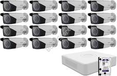 16 varifokális infrakamerás megfigyelőrendszer HIKVISION HDTVI 116619