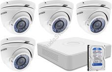 4 varifokális dome infrakamerás megfigyelőrendszer HIKVISION HDTVI 116624