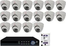 16 dome infrakamerás megfigyelőrendszer SANAN AHD 114510