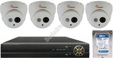 4 dome infrakamerás megfigyelőrendszer SANAN AHD 114506