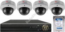 4 varifokális dome infrakamerás megfigyelőrendszer SANAN AHD 114511