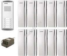 COMMAX DR-10AM + 10 db DP-SS + RF-1A 10 lakásos kaputelefon szett  117268