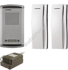 COMMAX DR-2AM + 2 db DP-SS + RF-1A Kétlakásos kaputelefon szett 117264