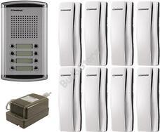 COMMAX DR-8AM + 8 db DP-SS + RF-1A 8 lakásos kaputelefon szett 117267