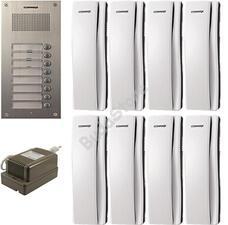 COMMAX DR-8UM + 8 db DP-SS + RF-1A 8 lakásos kaputelefon szett 117275