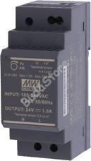 Mean Well HDR-30-24 kapcsolóüzemű tápegység 115840