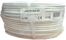 Erősített biztonságtechnikai kábel 2 x 0.75 + 4 x 0.22 (C+T+S) 115703