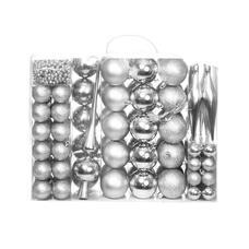 112 részes karácsonyfadísz ezüst HOP1001123-3