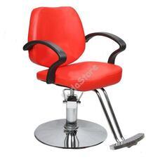 Fodrász szék állítható magassággal piros HOP1000967-2