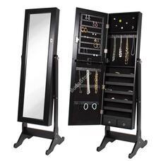 Tükrös ékszertartó szekrény fekete HOP1001120-2