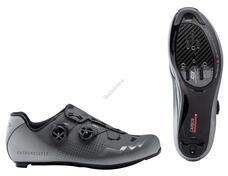 NORTHWAVE Cipő NW ROAD EXTREME GT 2 45 antracit/ezüst fényvisszaverős 80201020-86-45