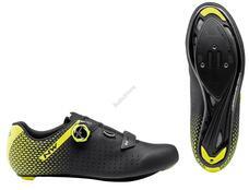 NORTHWAVE Cipő NW ROAD CORE PLUS 2 45 fekete/fluo sárga 80211012-04-45