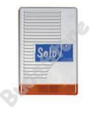 SOLO Kültéri hang-fényjelző szabotázsvédett fémházban