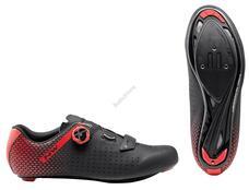 NORTHWAVE Cipő NW ROAD CORE PLUS 2 39,5 fekete/piros 80211012-15-395