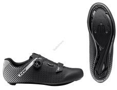 NORTHWAVE Cipő NW ROAD CORE PLUS 2 45,5 fekete/ezüst 80211012-17-455