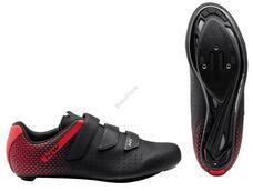 NORTHWAVE Cipő NW ROAD CORE 2 40,5 fekete/piros 80211013-15-405