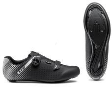 NORTHWAVE Cipő NW ROAD CORE PLUS 2 WIDE 48 fekete/ezüst 80211014-17-48