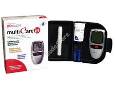 MULTICARE IN vércukor koleszterin triglicerid mérő csomag tesztcsíkokkal