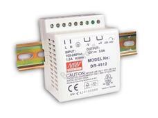 MEAN WELL DR-45-12 DIN sínre szerelhető kapcsolóüzemű tápegység DR4512