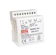 MEAN WELL DR-45-24 DIN sínre szerelhető kapcsolóüzemű tápegység DR4524