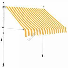 Feltekerhető napellenző sárga csíkos 350x120cm HOP1001018-4