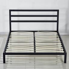 Fém ágykeret ajándék ágyráccsal 180x200cm fekete Bella HOP1001143-1