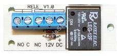 Relépanel 1 morzeérintkező max 15A ármfelvételű eszközök vezérléséhez
