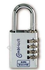 BURG WACHTER CombiLock90 30 ChromoSB számzáras lakat Combi Lock 90 30 Chromo SB