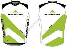 MERIDA 2014 44 fehér zöld/fekete L-es végig zipzáras Mellény 740639L-44WH