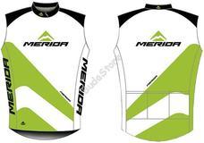 MERIDA 2014 44 fehér zöld/fekete XL-es végig zipzáras Mellény 740639XL-44WH