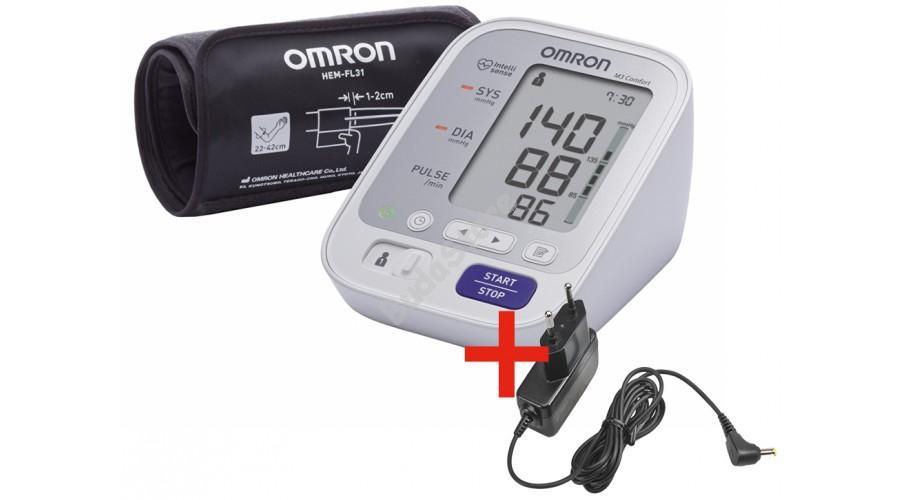 OMRON M3 Comfort Automata felkaros vérnyomásmérő + adapter
